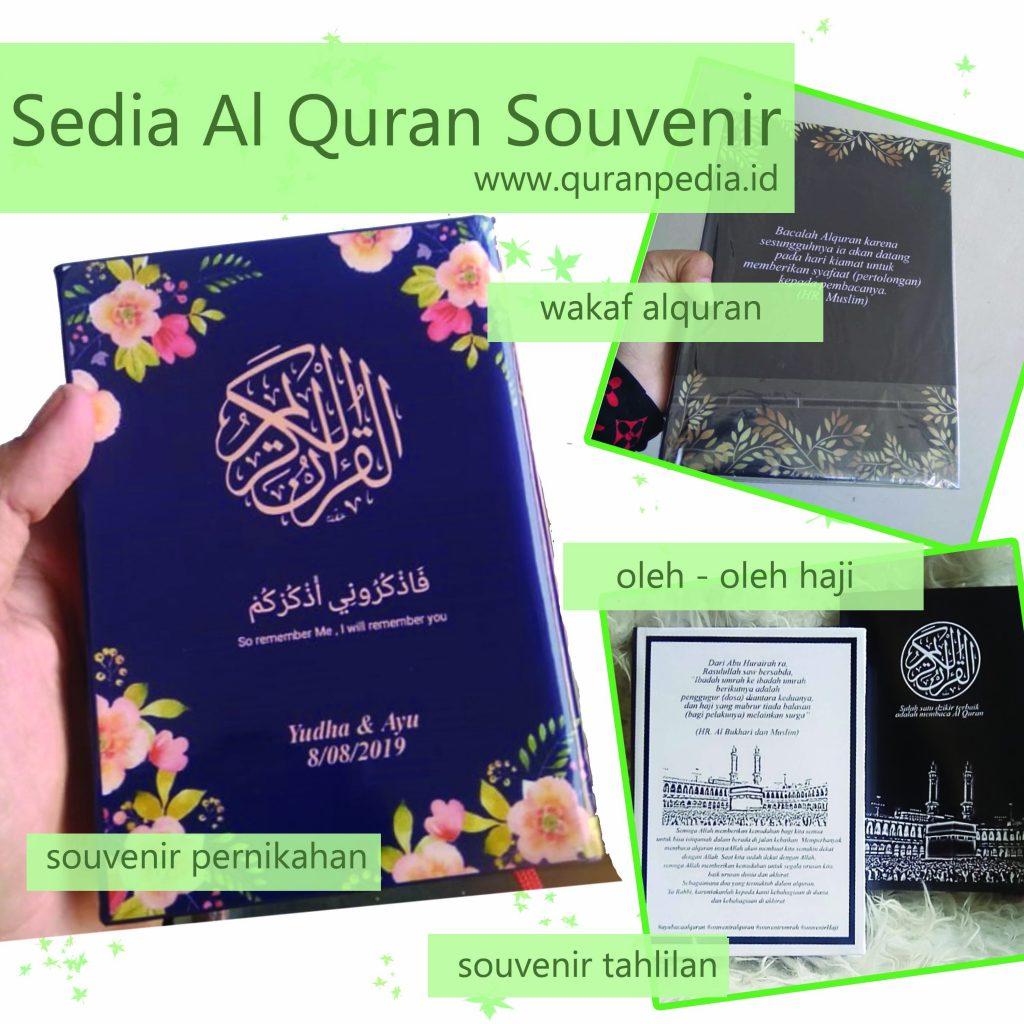 souvenir pernikahan, souvenir pengajian, wakaf alquran, oleh oleh haji, souvenir tahlilan
