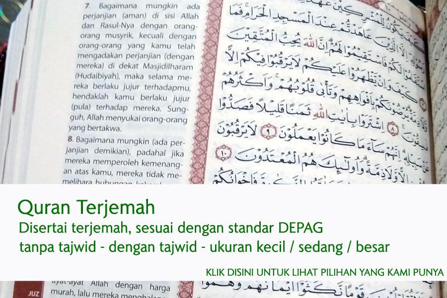 jual al quran terjemahan murah